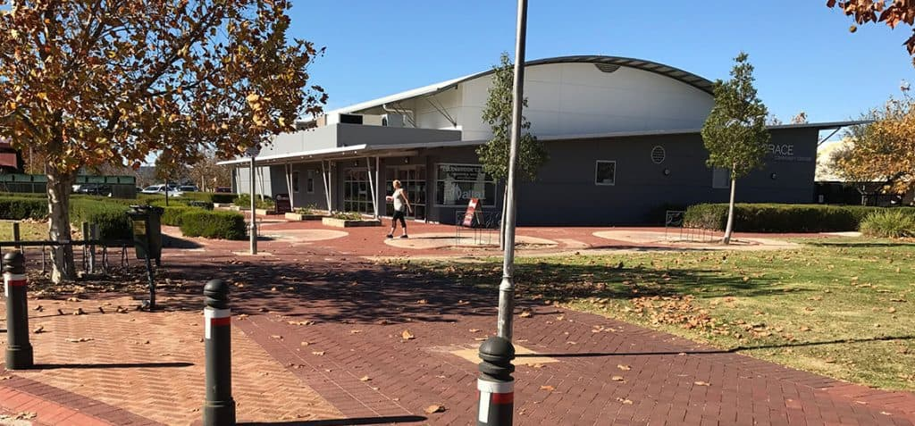 outside and entrance of the ellenbrook karate club